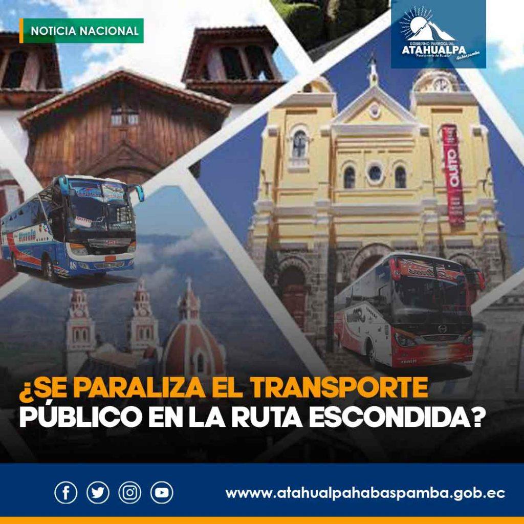 Transporte Público en la Ruta Escondida